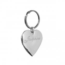 Porte clefs cœur personnalisé