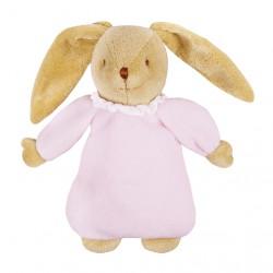 Trousselier doudou lapin musical rose. Boite à musique petite fille