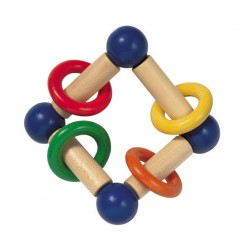 Selecta Spielzeug hochet en bois Girali carré