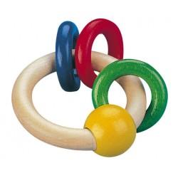 Selecta Spielzeug hochet en bois Girali rond