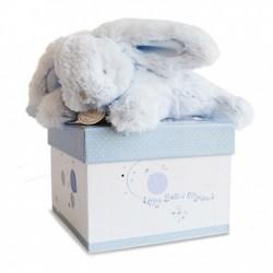 Doudou et Compagnie boité à musique lapin bleu