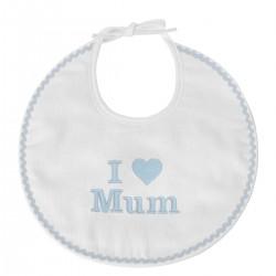 Bavoir brodé I Love Mum