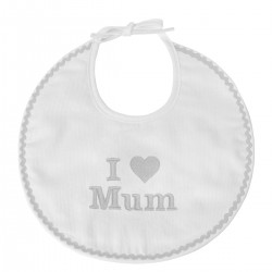 Bavoir naissance I Love Mum