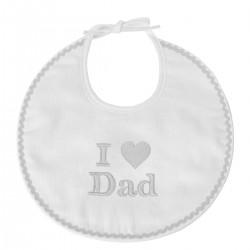 Bavoir naissance brodé I Love Dad