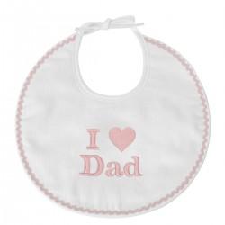 Idée cadeau de naissance : un bavoir naissance I Love Dad