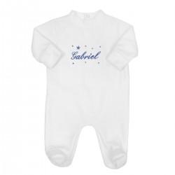 Pyjama naissance personnalisé avec des étoiles