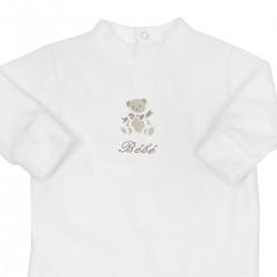Pyjama naissance personnalisé avec ours
