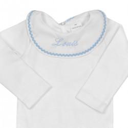 Body à collerette personnalisé au prénom du bébé