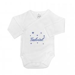 Body bébé personnalisé avec des cœurs