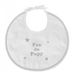 Bavoir naissance brodé Fan de Papy