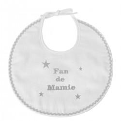 Bavoir naissance brodé Fan de Mamie