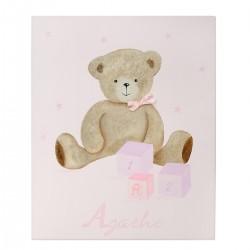 Tableau personnalisé peint à la main. Décoration chambre enfant.