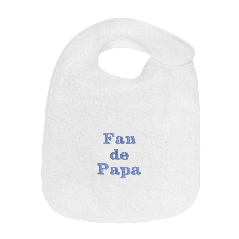 Bavoir de naissance brodé Fan de Papa