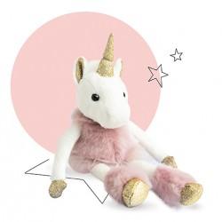 Peluche licorne très fun ! La licorne glitter d'Histoire d'Ours est adorée par les petites filles.