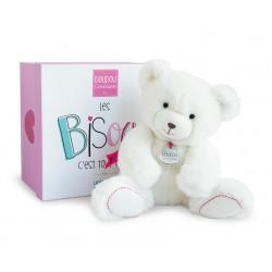Peluche ours blanc de Doudou et Compagnie en soutien à l'Unicef.