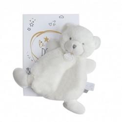 Doudou plat ours blanc de Doudou et Compagnie. Peluche très douce.