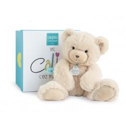 Peluche ours beige de Doudou et Compagnie en soutien à l'Unicef