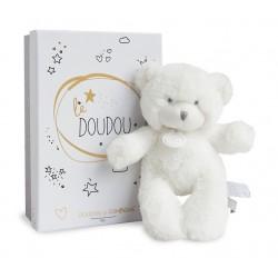 Peluche ours blanc de Doudou et Compagnie.
