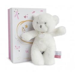 Peluche ours rose de Doudou et Compagnie.