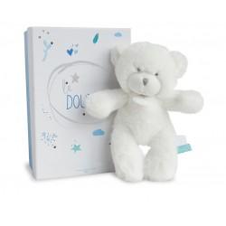 Peluche ours bleu de Doudou et Compagnie.