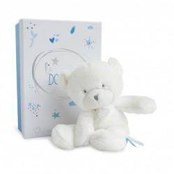 Peluche pantin ours bleu de Doudou et Compagnie.