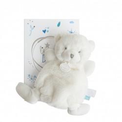 Doudou plat ours de Doudou et compagnie. Très belle peluche pour la naissance de bébé.
