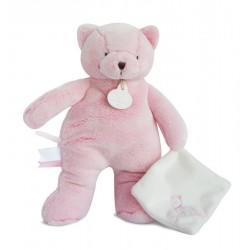 Doudou chat rose de Doudou et Compagnie. Idée cadeau de naissance.