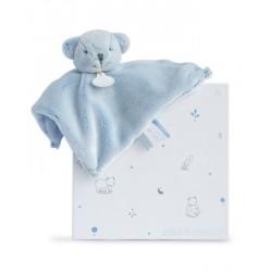 Doudou plat ours bleu de Doudou et Compagnie.