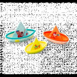 Lilliputiens 3 petits bateaux flottants