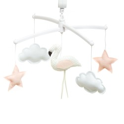 Pouce et Lina Mobile Musical Flamand Rose