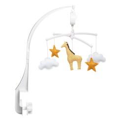 Magnifique mobile musical de la marque Pouce et Lina avec une girafe