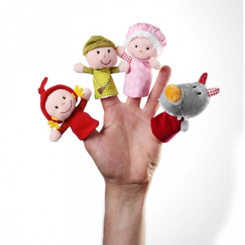Lilliputiens marionnettes à doigts Petit Chaperon Rouge