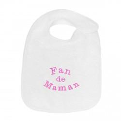Pour faire plaisir à la jeune maman, offrez à bébé ce magnifique bavoir brodé Fan de Maman