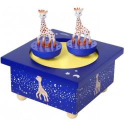 Boite à musique Sophie La Girafe bleue de la marque Trousselier. Décoration chambre bébé.