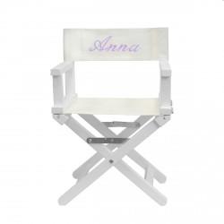 Chaise en bois blanc bébé personnalisée