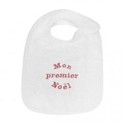 Bavoir bébé brodé Mon Premier Noël