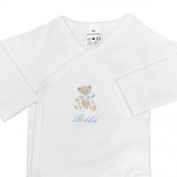 Body naissance personnalisé au prénom du bébé avec un petit ours.