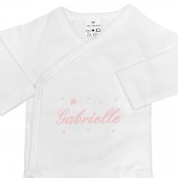 Body bébé croisé personnalisé avec des étoiles.
